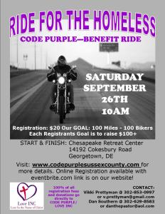 benefit ride flyer